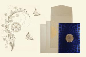 Blue Wedding Card | 123WeddingCards