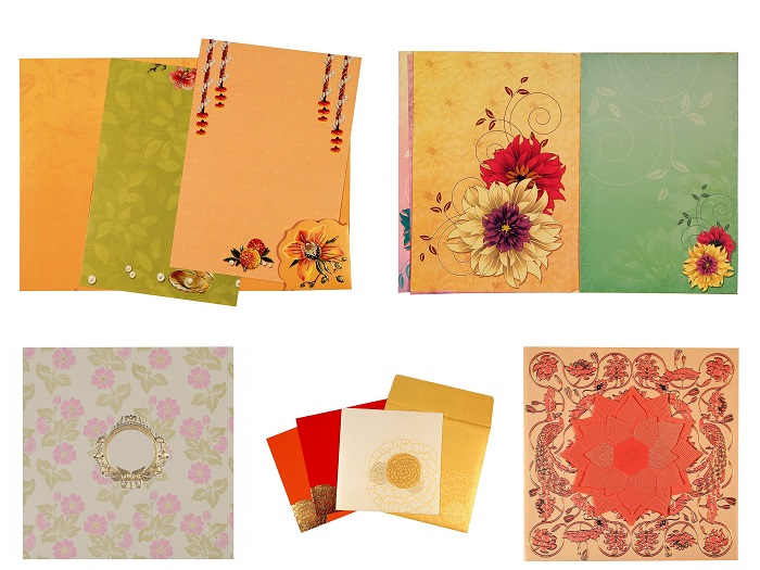 Floral Theme Wedding Invitations Floral Cards - 123WeddingCards