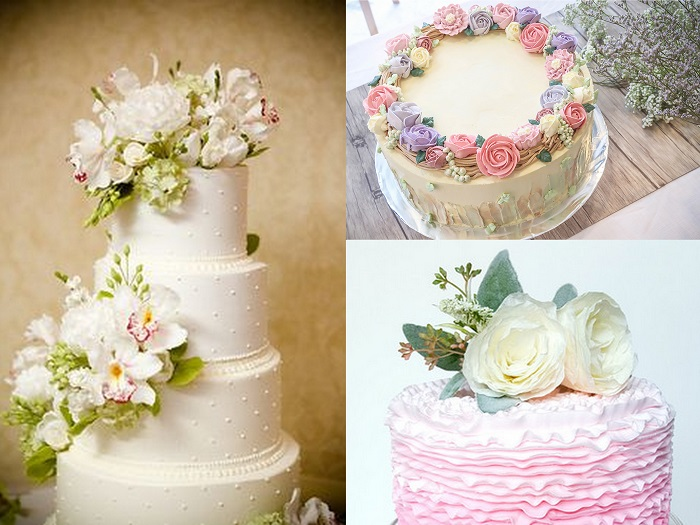 Floral Wedding Cakes - 123WeddingCards