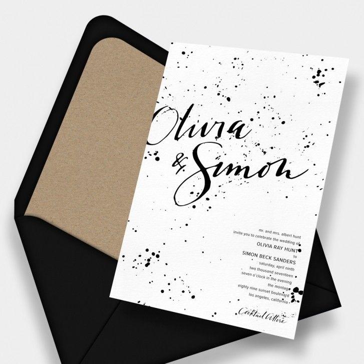 calligraphic wedding invitation