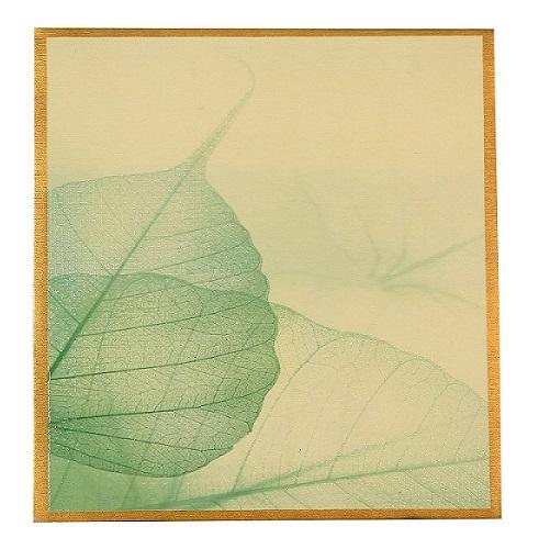 green leaf wedding invites