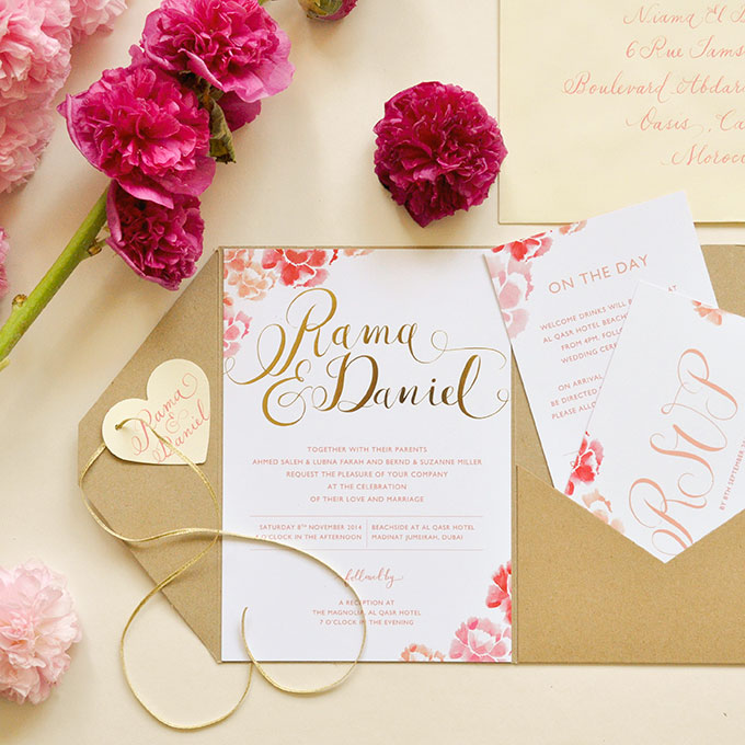 Romantic Invitations   123WeddingCards
