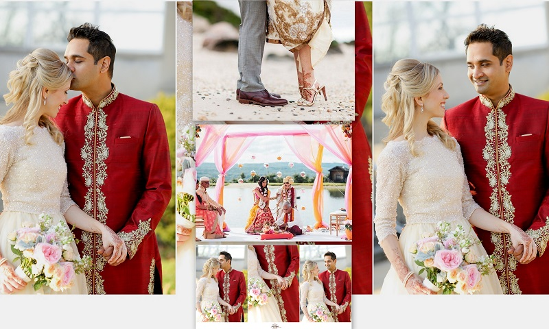 Indian - American Fusion Wedding- 123WeddingCards