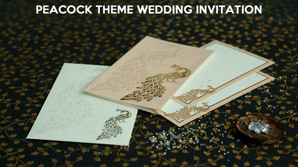 Peacock Theme Wedding Invitations - 123WeddingCards