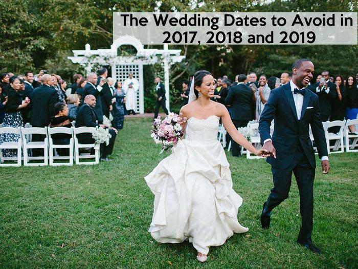 Avoidable wedding dates