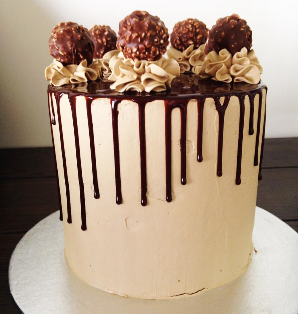 Coffee infused Mocha wedding cake - 123WeddingCards