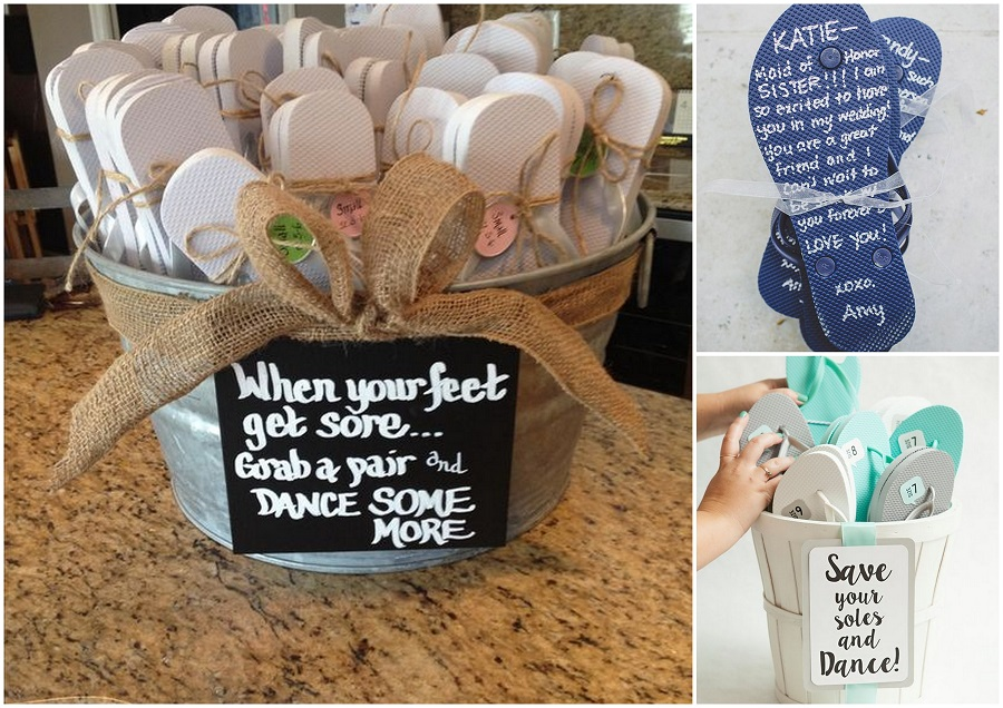 you can give these flip flops to your wedding guests as wedding favors