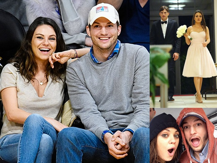 Ashton Kutcher & Mila Kunis - 4th of July Wedding - 123WeddingCards