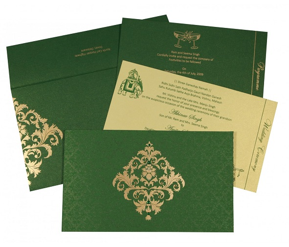Christian wedding invitations - C-8257F - 123WeddingCards