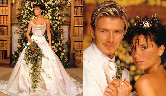 David Beckham & Victoria Beckham - 4th Of july Wedding - 123WeddingCards