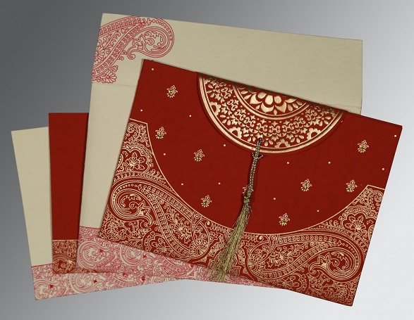 Hindu wedding invitation- W-8234L- 123WeddingCards