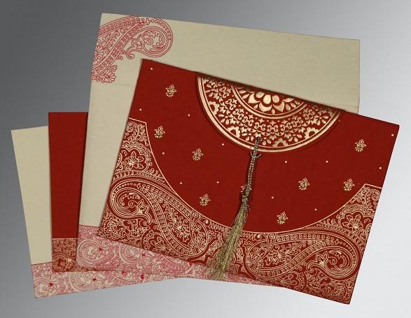 Hindu wedding invitation- W-8234L- 123WeddingCards