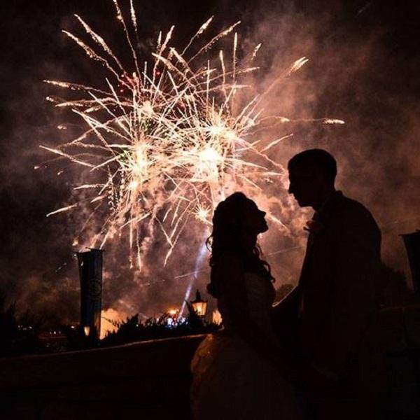 fireworks summer Wedding