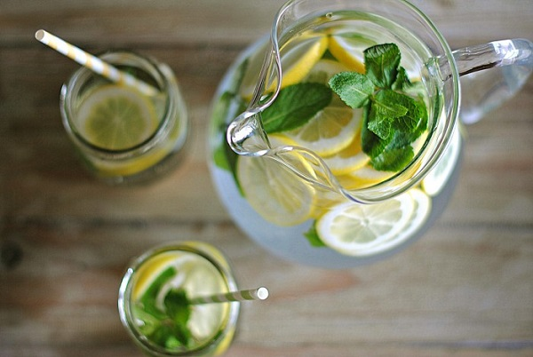 fruit, mint and lemon