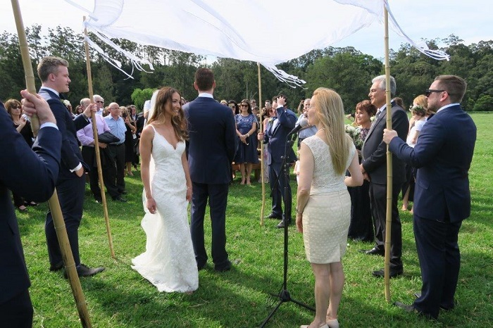 Circling the groom