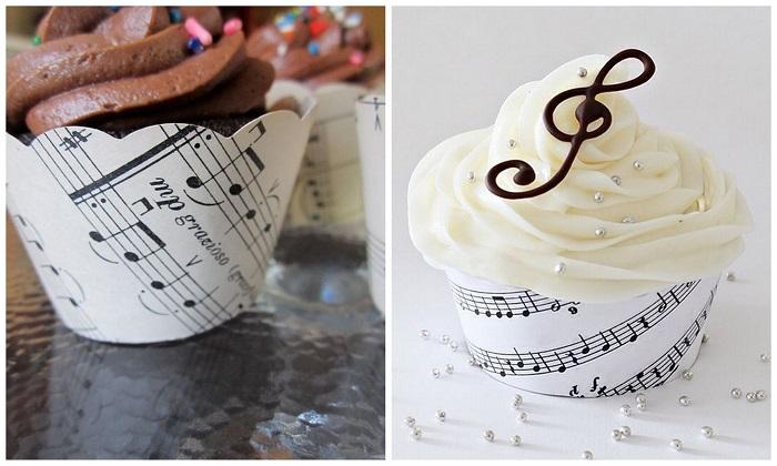 Cupcakes - Music theme wedding