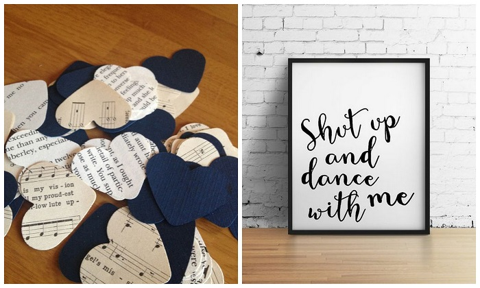 Handwritten Lyrics - Music theme wedding