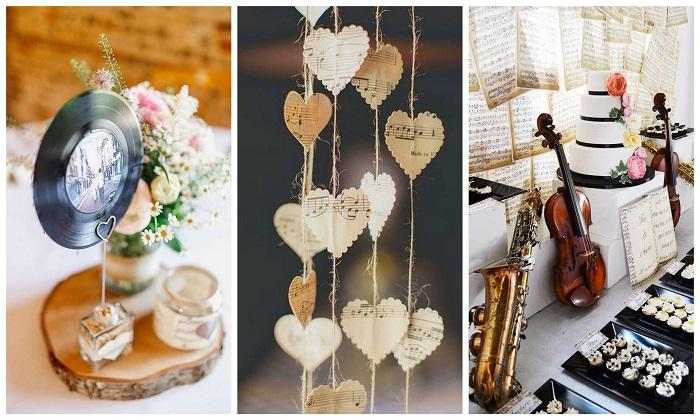 Musical wedding decoration idea - 123WeddingCards