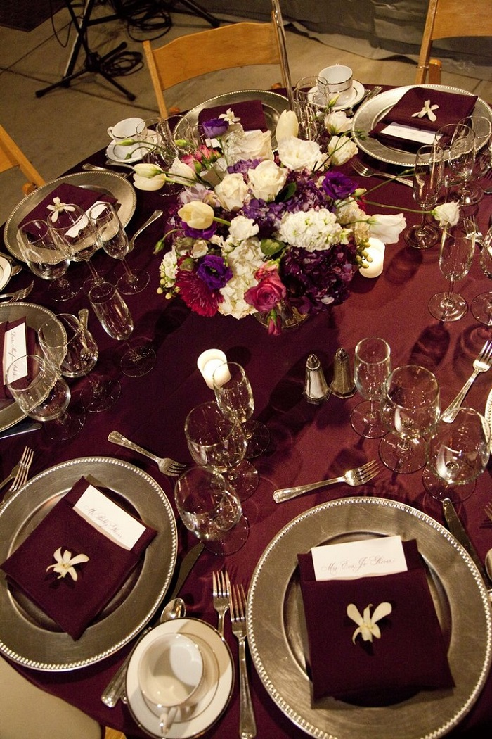 Fall Burgundy and gold wedding ideas