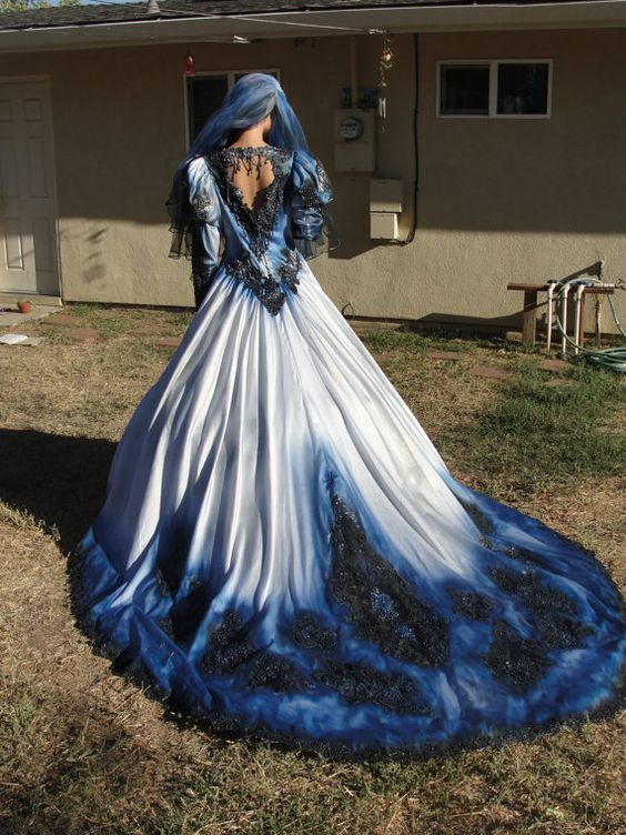 haloween wedding gown