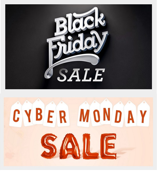 Black Friday and Cyber Monday Sale 2017