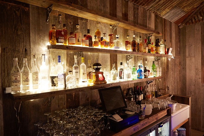 Spruce up the bar area