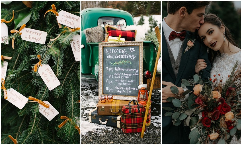 12 Christmas Wedding Ideas for Mesmerizing Your Christmas Themed Wedding - 123WeddingCards