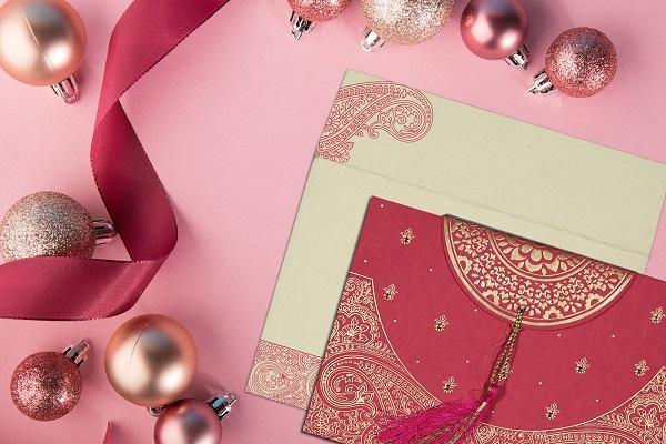 Christmas Theme Wedding Cards by 123WeddingCards