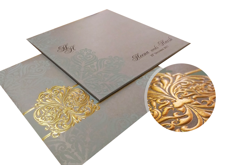 embossed process of wedding invitations - 123WeddingCards
