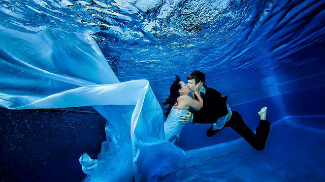 Couple Marry in Under Waters, Trang, Thailand