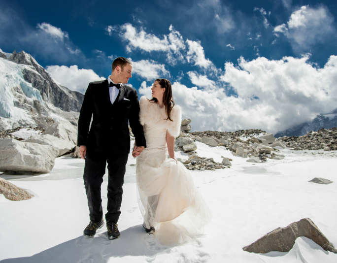 Couple Marry on Top of Mount Everest, Nepal