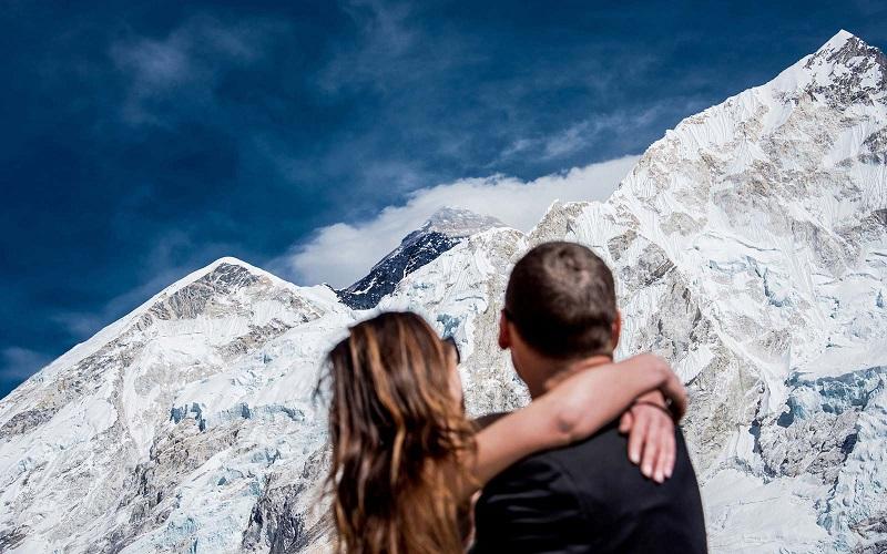 Top of Mount Everest, Nepal