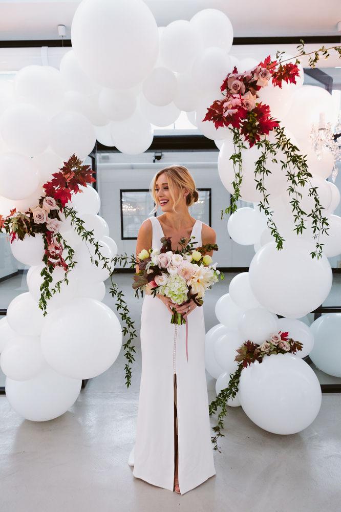 Balloons as props for wedding photographs_1