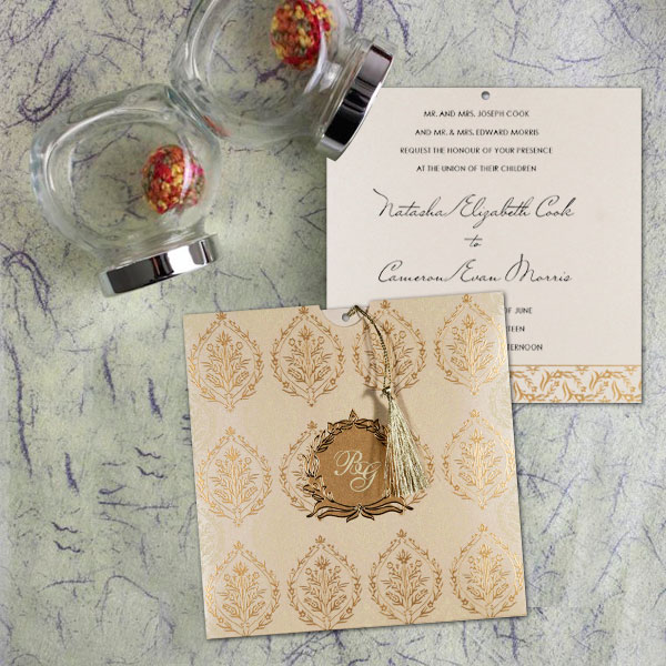Calligraphy Invitation Design by 123WeddingCards