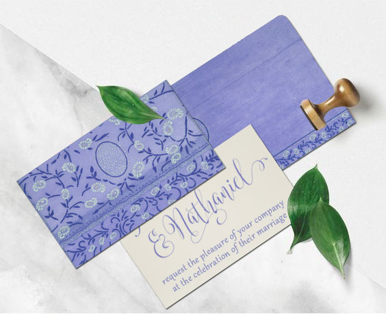 Calligraphy Invitation from 123WeddingCards