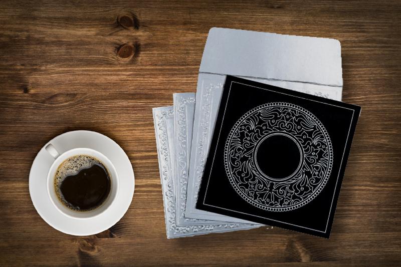 Geometric pattern in wedding invitation by 123weddingcards.com