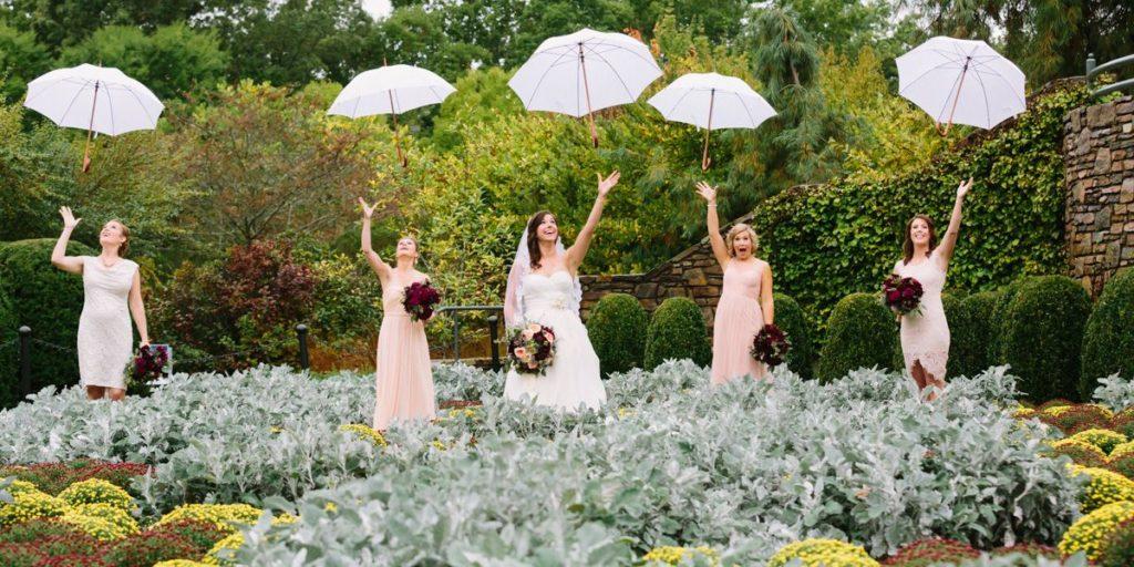 Use of umbrellas for wedding photo prop_2