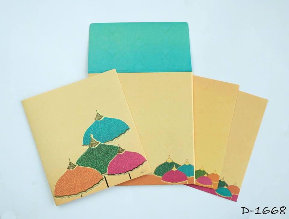 Watercolor invitation card from 123weddingcards.com