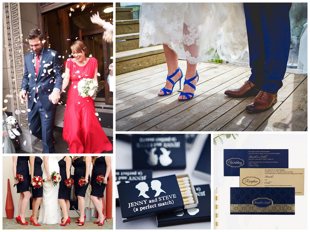 Color Palettes Combinations - 2018 - Custom Blue, Scarlet and Carnation