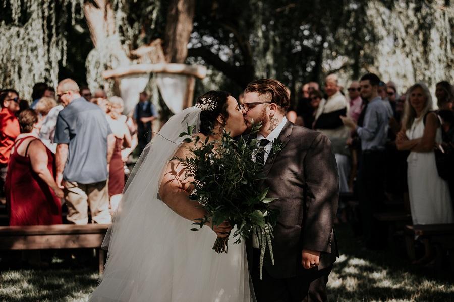 Courtney McMillion and Billy McMillion Jurassic Park Theme Wedding