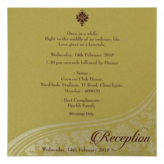 Date and time in wedding invitation