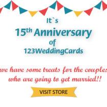 123WeddingCards Anniversary sale