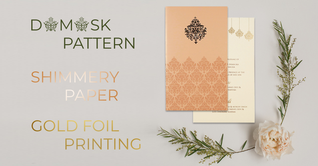 Beautiful wedding invitation cards design by 123WeddingCards