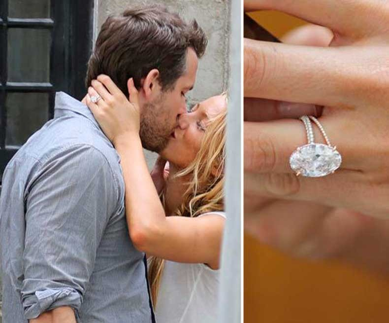 Blake Lively & Ryan Reynolds engagement ring