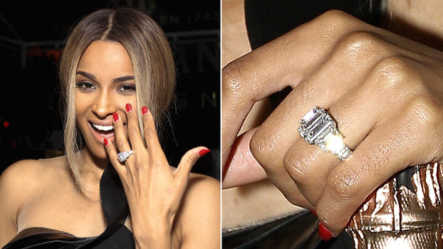 Ciara & Russell Wilson engagement ring