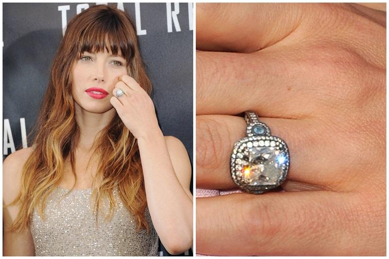 Jessica Biel & Justin Timberlake engagement ring