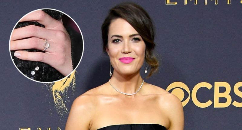 Mandy Moore & Taylor Goldsmith engagement ring