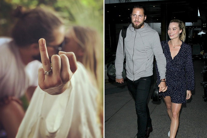 Margot Robbie & Tom Ackerley engagement ring