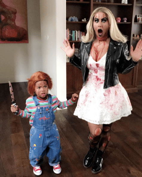 halloween dress of Amber Rose and little Sebastian in 2017
