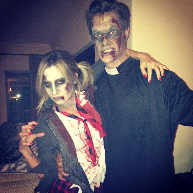 halloween dress of Ashley Tisdale and Christopher French in 2014